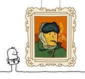 Van- Goghkarikatur Lizenzfreie Stockfotografie