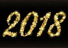 2018 van gouden schittert vector illustratie