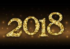 2018 van gouden schittert stock illustratie