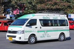Van of Greenbus company Stock Photo