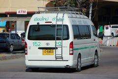 Van of Greenbus company Royalty Free Stock Photos