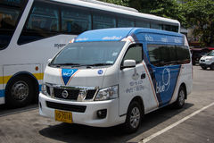 Van of Greenbus company, route Lampang and Chiangmai. Stock Photography