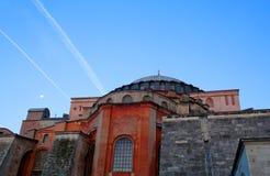 Van Hagiasophia (Ayasofya) de tempel in Istanboel, Turkije Stock Fotografie