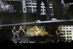 Van Halen in overleg Stock Foto's