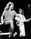 Van Halen - Sammy Hagar & Eddie Van Halen - 1994 Greatwoods Performance Center - Mansfield,Ma by Eric L. Johnson Stock Photo