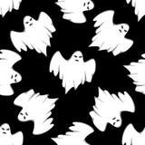 Van Halloween naadloos patroon als achtergrond Stock Afbeelding