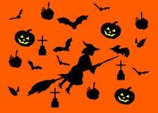 Van Halloween originele zwarte als achtergrond royalty-vrije stock afbeelding
