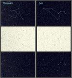 Van hercules en van de Leeuw (de Leeuw) de constellaties Stock Fotografie