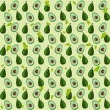 Van het achtergrond avocadopatroon installatiedruk Stock Fotografie