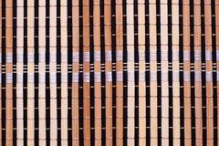 Van het achtergrond bamboe mat stock fotografie