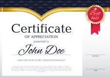 Van het achtergrond certificaatontwerp malplaatje Royalty-vrije Stock Afbeeldingen