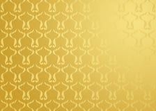 Van het achtergrond damast goud Royalty-vrije Stock Foto's