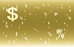 Van het achtergrond dollarsymbool koffiekleur Royalty-vrije Stock Foto