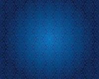 Van het achtergrond indigo blauw uitstekend behang patroonontwerp Stock Afbeeldingen