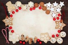Van het achtergrond Kerstmiskoekje Grens stock afbeelding