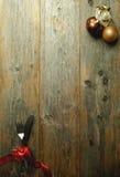 Van het achtergrond Kerstmismenu kaart Stock Foto