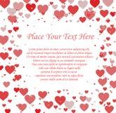 Van het achtergrond liefdehart kaart Royalty-vrije Stock Foto's