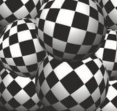 Van het achtergrond schaakbord ballen Stock Afbeeldingen
