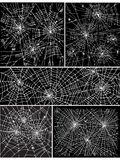 Van het achtergrond Web patroonreeks II Stock Afbeelding
