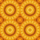 Van het achtergrond zonnebloempatroon zonbloem symmetrie stock illustratie