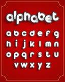Van het alfabet set Stock Foto