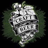 Van het ambacht-bier-mout van de de drankaffiche moutbier illustratie van het het ontwerp de vector vectorontwerp royalty-vrije illustratie