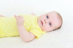 2 van het babymaanden meisje Royalty-vrije Stock Foto's