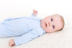 2 van het babymaanden meisje Royalty-vrije Stock Afbeeldingen