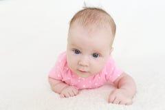 3 van het babymaanden meisje Stock Afbeeldingen
