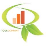 Van het bedrijfs bedrijf embleem - Investering Stock Foto