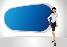 Van het bedrijfs beeldverhaal vrouw vector illustratie