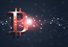 Van het Bedrijfs bitcoinweb Achtergrond Royalty-vrije Stock Fotografie