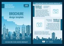 Van het bedrijfs bouwbedrijf brochure vectormalplaatje Royalty-vrije Stock Fotografie