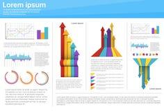 Van het Bedrijfs diagraminfographic van grafiek Vastgestelde Financiën het Pictogram Financiële Grafiek royalty-vrije illustratie