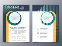 Van het bedrijfs en technologie het malplaatjevector brochureontwerp Stock Afbeelding