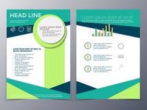 Van het bedrijfs en technologie het malplaatjevector brochureontwerp Royalty-vrije Stock Afbeeldingen