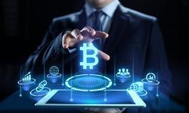 Van het bedrijfs geldfinanci?n van Bitcoincryptocurrency digitaal technologieconcept royalty-vrije illustratie