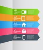 Van het Bedrijfs infographicmalplaatje vectorillustratie Stock Foto