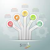 Van het bedrijfs ontwerpmalplaatje concepten infographic malplaatje Stock Foto