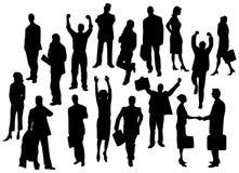 Van het bedrijfs silhouet mensen Stock Afbeelding
