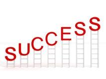 Van het bedrijfs succes concept met ladders Stock Afbeeldingen