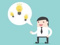 Van het bedrijfs zakenmanaandeel idee vector illustratie