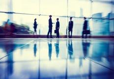 Van het bedrijfsmensen Communicatie Concept Bureau het Collectieve Werk Stock Fotografie
