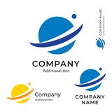 Van het het Bedrijfsymbool van planeet Abstract Logo Modern Identity Brand Icon het Concepten Vastgesteld Malplaatje Stock Foto