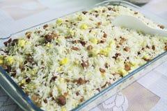 Van het birorecept van rijstbiro van de het voedsel heerlijk maaltijd van de het detaillunch Sao Paulo Brazil stock foto