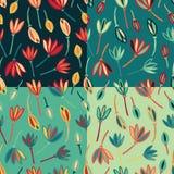 Van het bloem abstracte naadloze patroon vector als achtergrond Bloemen textielpatroonreeks stock illustratie