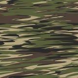 Van het camouflagepatroon naadloze illustratie als achtergrond Militaire Camouflage vector illustratie