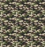 Van het camouflagepatroon naadloze vectorillustratie als achtergrond stock illustratie