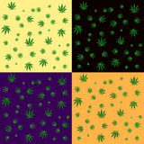 Van het cannabisblad naadloos patroon als achtergrond Stock Fotografie