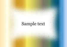 Van het chroom frame als achtergrond kleurrijk met steekproeftekst Royalty-vrije Stock Fotografie